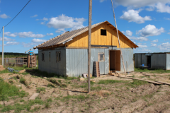 Это первое временное здание для проживания людей. Продолжает строиться
